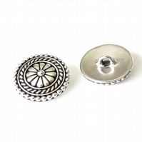 1x bali button, TierraCast buttons for leather wrap bracelets