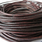 5xm leather cord in 2mm, antique brown leather cord for bracelet making