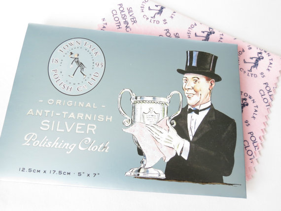 1x Town Talk silver polishing cloth for cleaning jewellery
