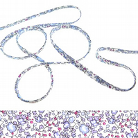 Eloise D - Liberty fabric spaghetti cord, jewellery supplies