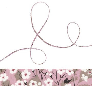 Mitsi P - pastel lilac Liberty fabric spaghetti cord, jewellery making