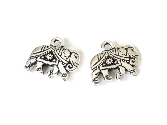 1x elephant charm, TierraCast jewellery findings for bracelets and necklaces