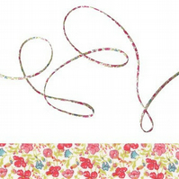 Helena's Meadow B - Liberty fabric spaghetti cord, jewellery making