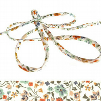 Kimberley and Sarah D - floral Liberty fabric cord, bracelet cord supplies