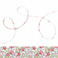 Eloise X - Liberty fabric cord with pretty rose print, jewellery supplies