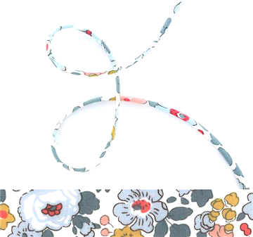 Betsy P - classic floral Liberty fabric spaghetti cord, jewellery supplies
