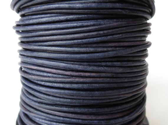5xm leather cord in 2mm, pacific blue leather cord for bracelet making