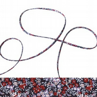 Wilmslow Berry D - Liberty fabric spaghetti cord, jewellery making