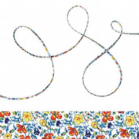 Helena's Meadow A - Liberty fabric spaghetti cord, jewellery making