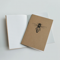 Honey Bee illustration - recycled notebook