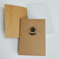 BumbleBee illustration - recycled notebook
