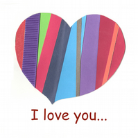 I love you... Heart Greeting Card
