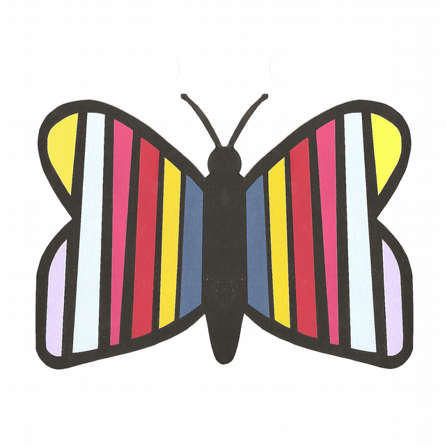 Striped Butterfly Greeting Card