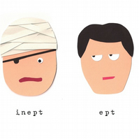 Inept & Ept - Greetings Card