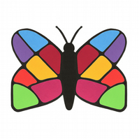 Colourful Butterfly Greetings Card