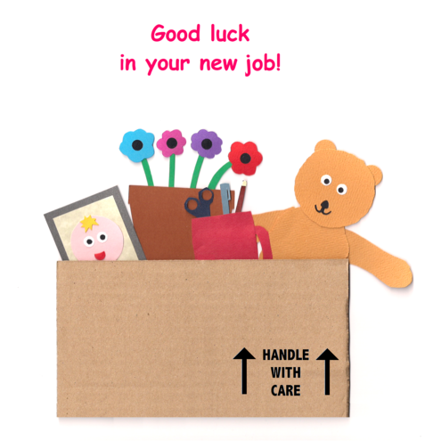 Good luck in your new job greetings card folksy good luck in your new job greetings card m4hsunfo Choice Image