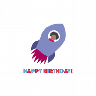 Birthday Rocket Card
