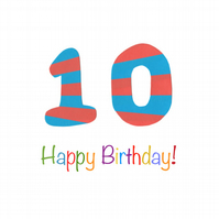 Ten Today - Birthday Card