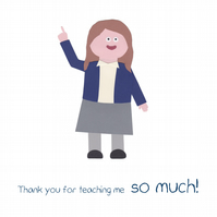 Thank You Teacher card - Girl