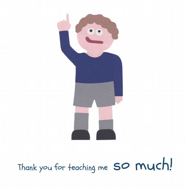 Thank You Teacher - Boy