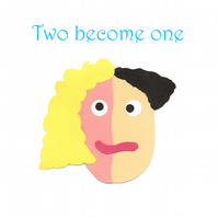 Two Become One - Greetings Card