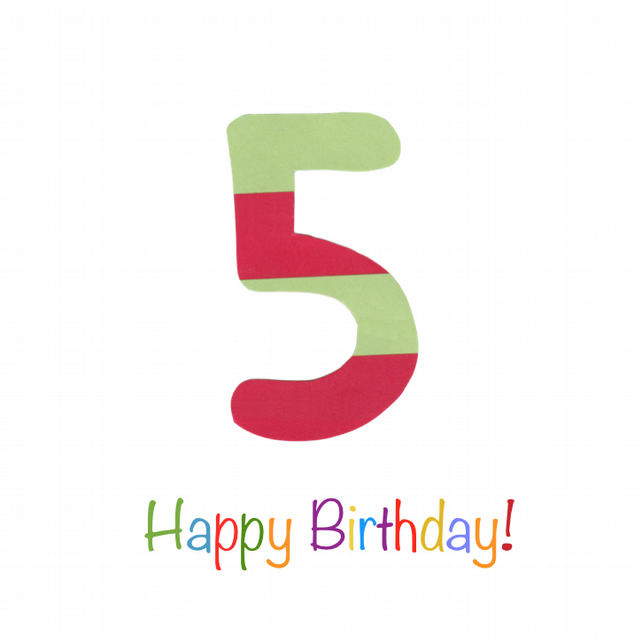 Five Today - Birthday Card