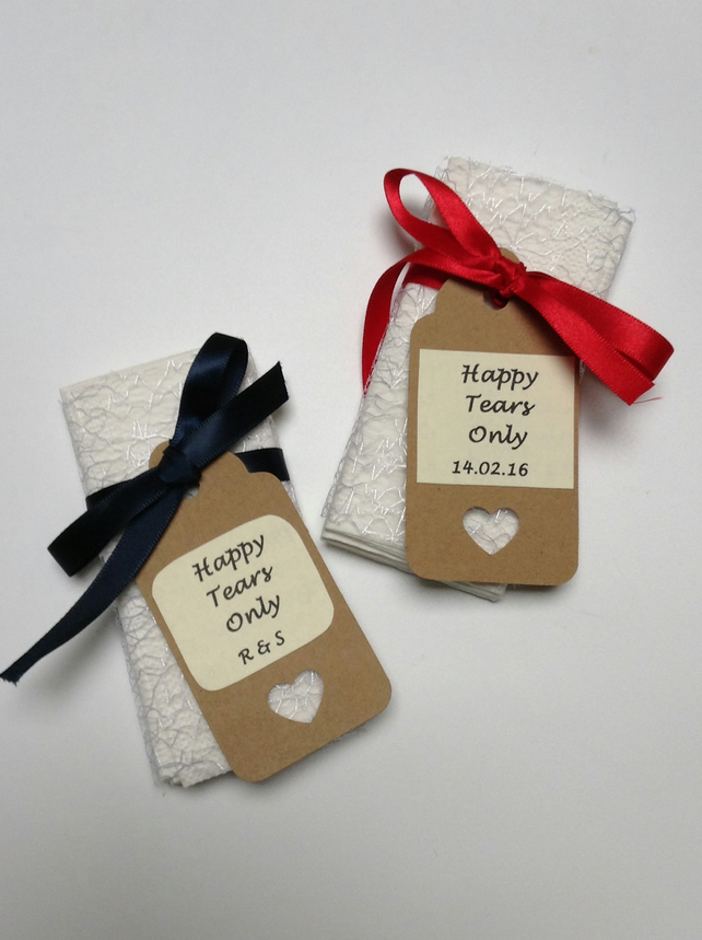 Wedding Gift Check Bounced : Happy Tears Only Wedding Tissues - Folksy