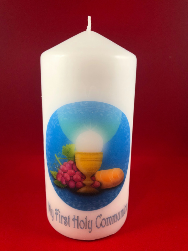 First Holy Communion Candle Folksy