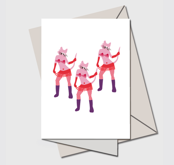 A Quirky card, Quirky cats, Dance, Dancing, Music, Musician, Musical