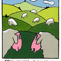 Bleating on about the environment, Giclee print