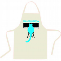 Premium Cotton Apron with cat image at the piano Pianissimiaow