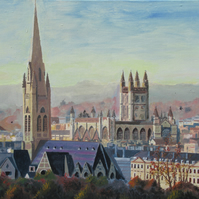 Bath cityscape-signed edition A3 Giclee print