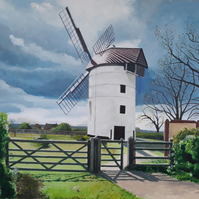 Ashton Windmill, Stow Allerton, Somerset - Signed edition A3 Giclee print