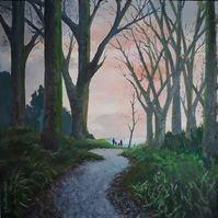 Forest Walk, Somerset, Mendips, Giclee print copy of original art, Home, Decor
