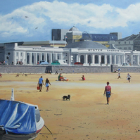 Winter Gardens Pavilion, Weston-Super-Mare, Giclee print copy of original art