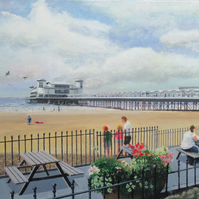 Grand Pier, Weston-Super-Mare, N.Somerset, Giclee print copy of original art