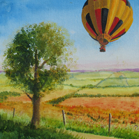 Bristol International Balloon Fiesta, N.Somerset, Giclee print of original art