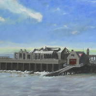 Birnbeck Pier, Weston-Super-Mare, N.Somerset, Giclee print copy of original art