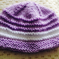 0-3 months hand knitted girls hat