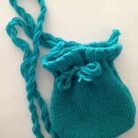 Girls handmade knitted bag