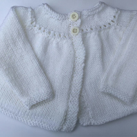 Hand knitted newborn Girls cardigan