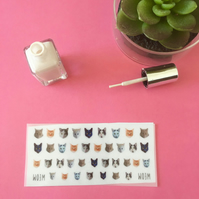 Kitty Cat Nail Decals - pack of 40