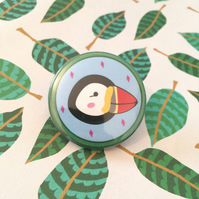 Puffin Wildlife Pin - 38mm Badge
