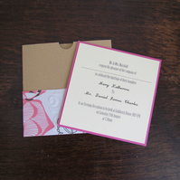 Summer Bright Evening Invitation Pocket