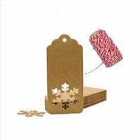 Punched Snowflake Christmas gift tags
