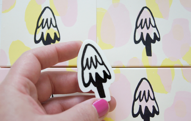 Little Tree - Screen Printed Brooch