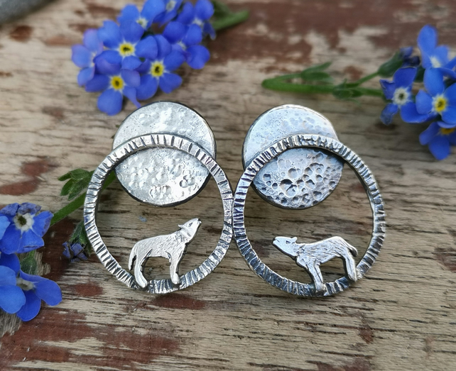 Lunar Wolf Earrings