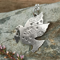 Dove Heart Pendant