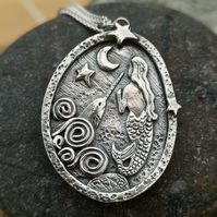 Mermaid and Narwhal Pendant
