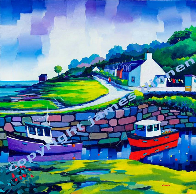 Corrie , Arran Limited Edition Giclee Print ( Free UK postage)